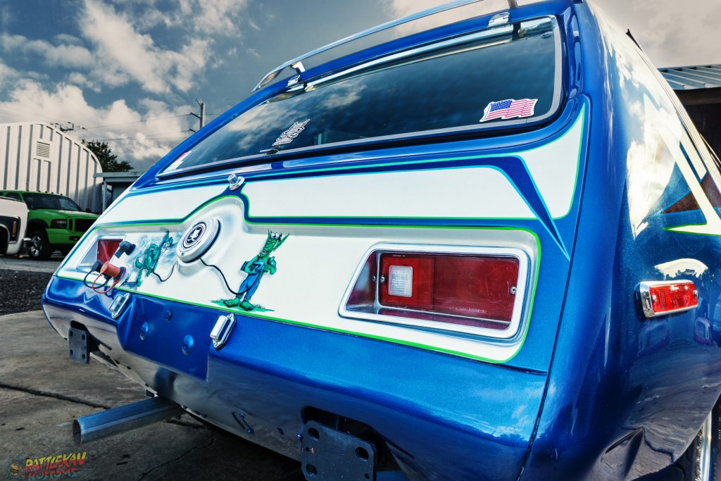 Gremlin drag car paint by RattleKan Kustoms in Melbourne
